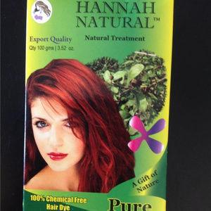 HANNAH NATURAL Pure Henna Chemical Free Hair Dye